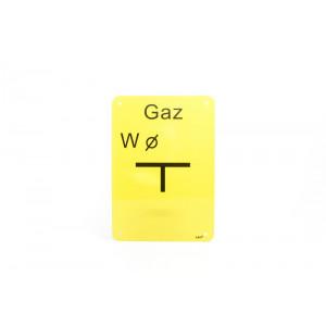 """TABLICZKA """"W"""" GAZ..."""