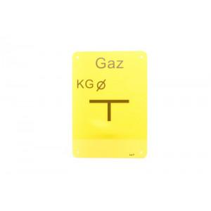 "TABLICZKA ""KG"" GAZ (KUREK..."