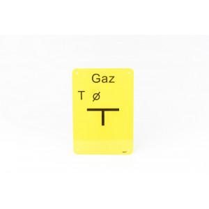 "TABLICZKA ""T"" GAZ..."