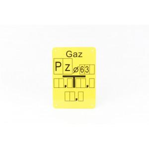 """Tabliczka opisana """"Pz 63"""""""