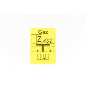 """Tabliczka opisana """"Z 32"""""""