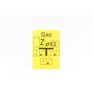 """Tabliczka opisana """"Z 63"""""""